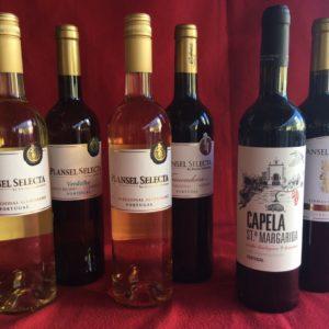 Plansel Weinflaschen